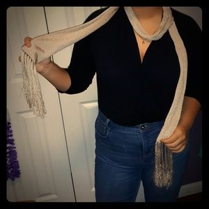 Glittery Sand colored Accent scarf